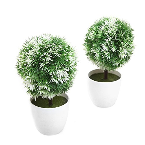MyGift Small Artificial Plants Topiary