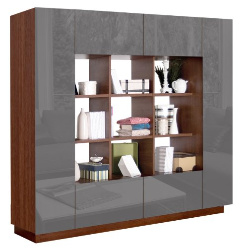 - Harrison Bookcase - Modern Cube Bookshelves Surrounded by Storage