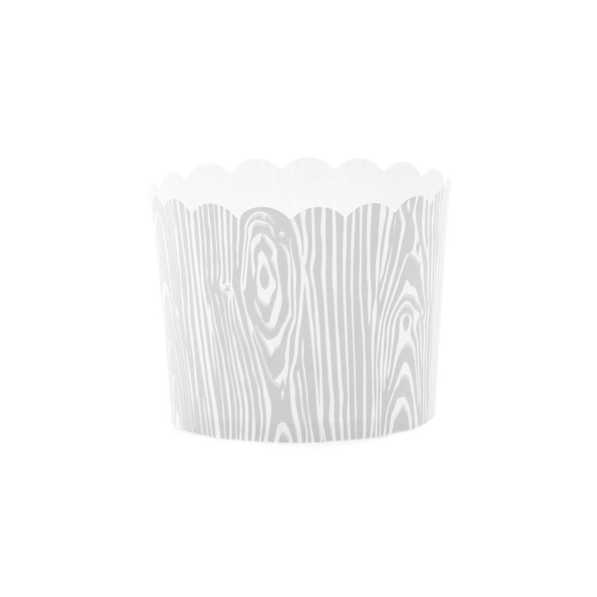 Simply Baked Large Paper Baking Cup, Birch Faux Wood Grain, 500 Pack, Disposable & Oven-Safe