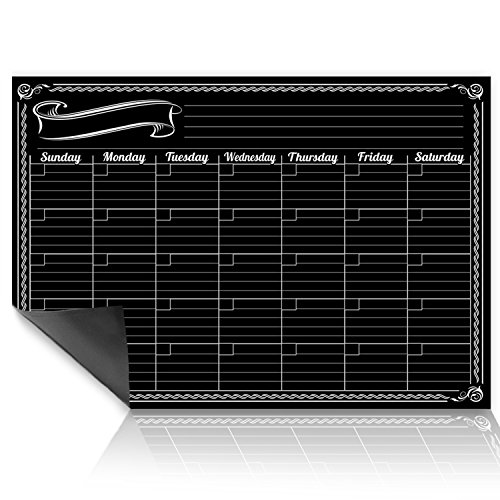Planner Erasable (Dry Erase Monthly Planner Wall Calendar Decal | Design | for Use w/Fluorescent Liquid Chalk Markers | 18
