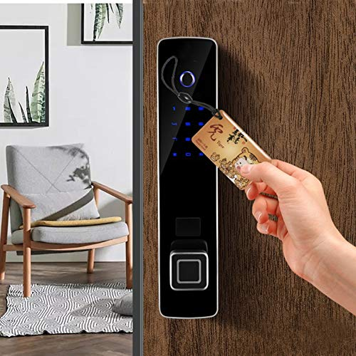 BLWX - Intelligent Door Lock-zinc Alloy-Waterproof and Wear-Resistant Fingerprint Lock Smart Lock Fingerprint Password Lock Automatic Tempered Glass Panel Security Door Wooden Door Door Lock by BLWX-home renovation. Door lock (Image #5)