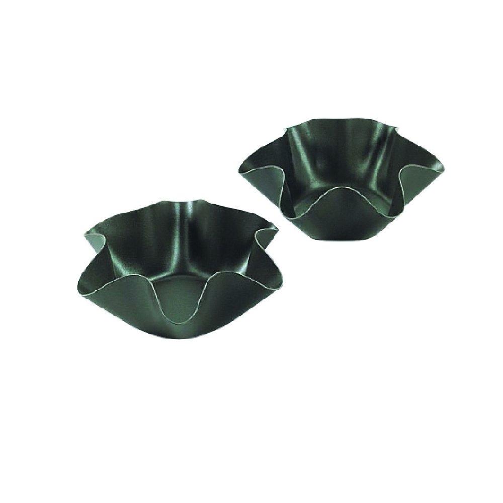 Zenker ''Special Creative'' Corrugated Baking Moulds (Set Of 4), Black, 6.50 x 2.36''