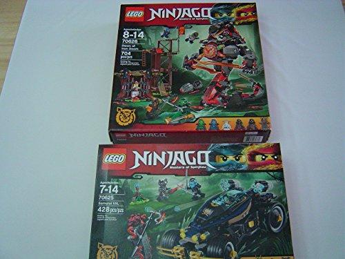Lego Buildable Figures Ninjago Samurai Vxl 70625   Ninjago Dawn Of Iron Doom 70626 Two Set Bundle