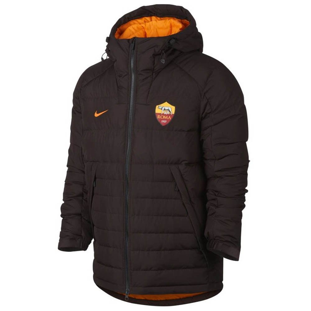 Nike 2017-2018 AS Roma Authentic Down Fill Jacket (Braun)