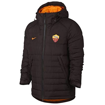 Nike 2017-2018 AS Roma Authentic Down Fill Jacket (Brown)