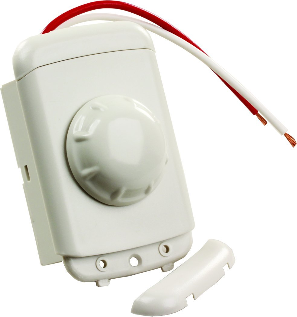 JR Products 15235 White Rotary Dimmer Switch
