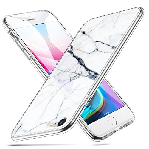 ESR iPhone 8 Case,iPhone 7 Case, 9H Marble Tempered Glass Back Cover [Mimics The Glass Back of The iPhone 8] + Soft Silicone Bumper [Shock Absorption] for iPhone 8/7(Beige)