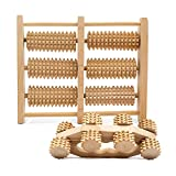 MiLLi Wood Anti Cellulite Massager, Roller Massager, Set of Wooden Roller for Legs & Body, Massage Tools, Relax & Anti Cellulite