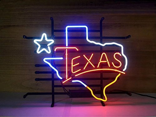 Neon Sign Store Neon Light Sign Home Beer Bar Pub Recreation Room Game Lights Windows Glass Wall Signs (17x14 Texas Lone Star)