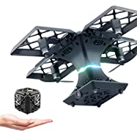 Utoghter 414/RC Quadcopter, Utoghter 2.4GHZ 4CH 6-Axis Gyro Quadcopter Folding Transformable Pocket Drone (Black)