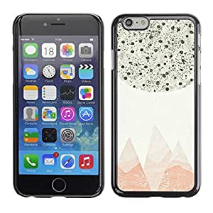 A-type Arte & diseño plástico duro Fundas Cover Cubre Hard Case Cover para Apple (5.5 inches!!!) iPhone 6+ Plus / 6S+ Plus (Abstract Pastel Mountains Stars Sky)