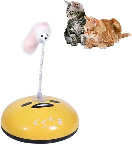 FXQIN Divertido Robot de Barrido y Juguete Teaser para Gatos, Robot Aspirador automático para Gatos, Robot Divertido para Barrer, para Pelo de Mascotas/Pisos Duros, Amarillo: Amazon.es: Productos para mascotas