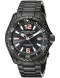 Stuhrling Original Men's 382.335B1 Prestige Swiss Regatta Captain Quartz Diver Date Black Dial Watch