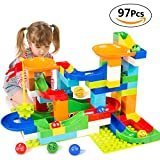 Kyпить BATTOP Marble Run Building Blocks Construction Toys Set Puzzle Race Track for Kids-97 Pieces на Amazon.com