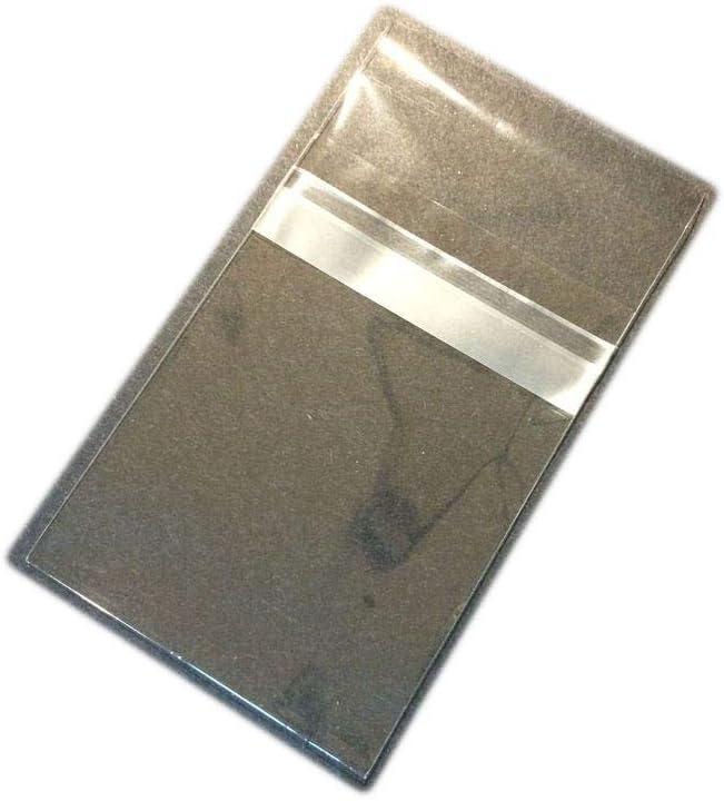 100 8 3//4 x 11 1//16 Clear Resealable Poly Cello Cellophane Bags 8.5x11 Prints