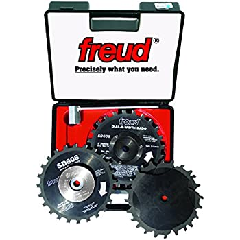 Freud 8 Quot X 24t Dial A Width Stacked Dado Sets Sd608