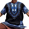 Birdfly Men Summer Vintage African Print Short Sleeve Pockets Ethnic Tops Shirt Blouses