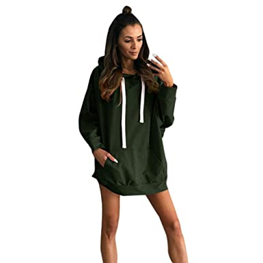 07b48485d1a2 OVERDOSE Oversize Robe Sweat Femme Capuche