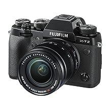 Fujifilm X-T2 Mirrorless Digital Camera F2.8-4.0 Lens, with XF 18-55 millimeters, Black