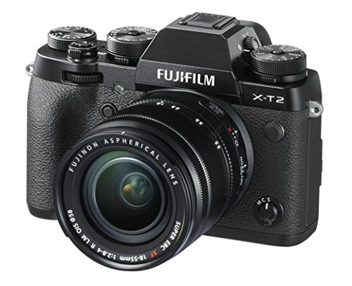 Fujifilm X-T2 Mirrorless Digital Camera with 18-55mm F2.8-4.0 R LM OIS Lens by Fujifilm