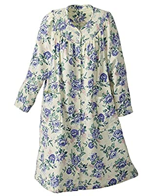 National Floral Flannel Duster - Misses, Womens