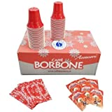 Caffè Borbone - 150 Bustine di Zucchero - 150 Palette - 150 Bicchierini Colorati