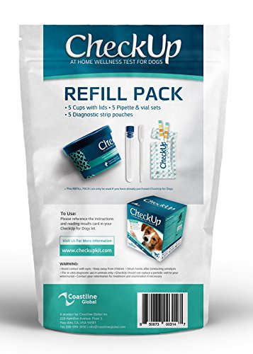 Coastline Global Dog REFILL KIT - CheckUp - At Home Wellness Test for Dogs