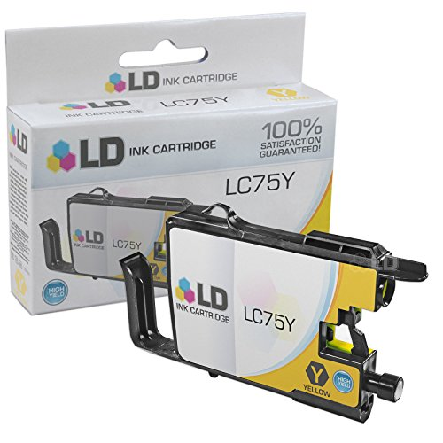 LD © Brother Compatible LC75Y High Yield Yellow Ink cartridge. (LC75 Series) for use in the Brother MFC-J6510DW, MFC-J6710DW, MFC-J6910DW and MFC-J835DW Printers