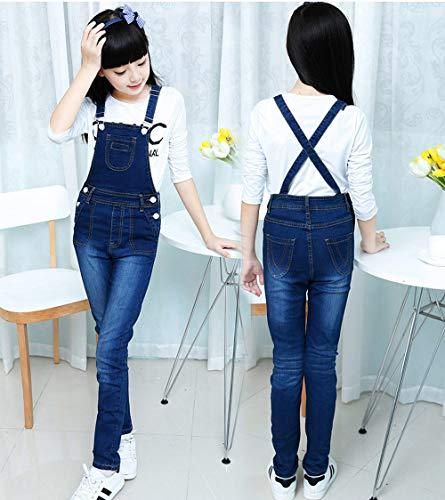47fa594b353 LAVIQK 3-13 Years Big Girls Kid Adjustable Strap Long Jeans Cotton  Suspender Denim Bib