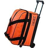 Tenth Frame Basic Double Roller Bowling Ball Bag (Orange)