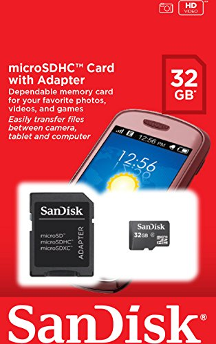 32GB Microsd Memory Card 3 Number_Of_Memory_Cards - 1 Speed_Class_Rating - Class 4 Manufacturer - SanDisk Corporation