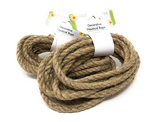 - Floral Garden Decorative Nautical Rope, 26 Feet