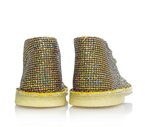 EUREKA - Chaussure dorée à lacets, en paillettes,fille,filles,enfant