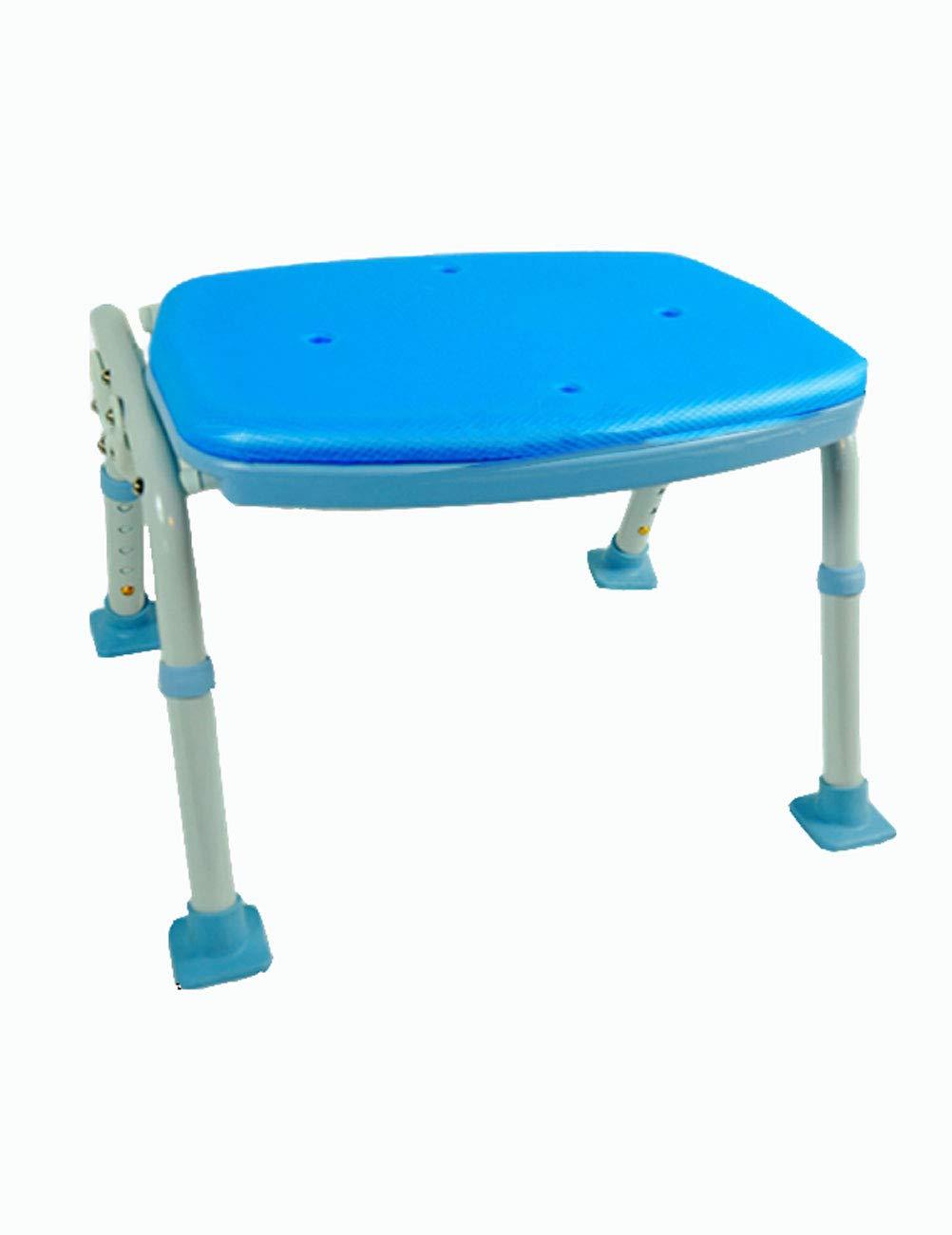TLMY Thick Aluminum Shower Chair Old Man Shower Stool Bathroom Stool Pregnant Women Anti-Skid Bath Stool Folding Chair Shower Chair
