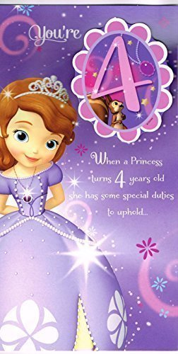 Sofia The First Youre 4 When A Princess Turns 4 Years Old She Has