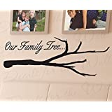 Wall Decal Letters Our Family Tree-Love Home Picture Frames-Adhesive Vinyl Quote Design Saying Sticker Art Bedroom Decor