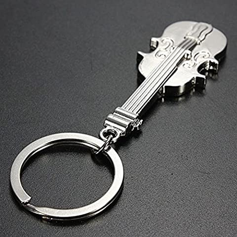1 Pc Grandiose Popular Violin Keychain Metal Keyring Charm Keyfob Musical Gift Color Silver - Silver Horse Coin Set