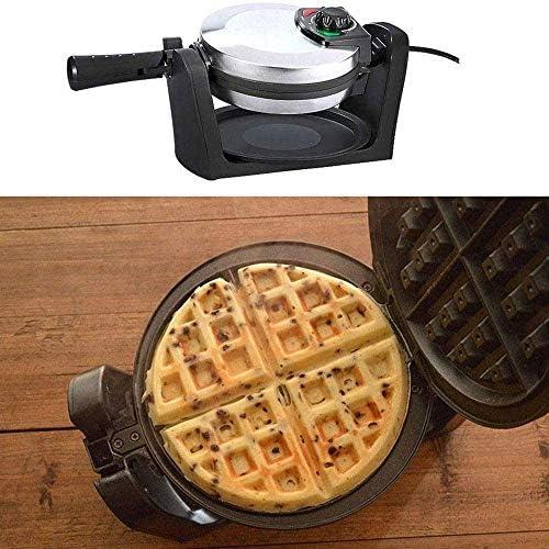 ZXLRH Machine à gaufres, Gaufrier Domestique Rotatif, 180 degrés, Gaufrier Rotatif avec antiadhésif, Plateau d'égouttement Amovible, Poignée Pliante