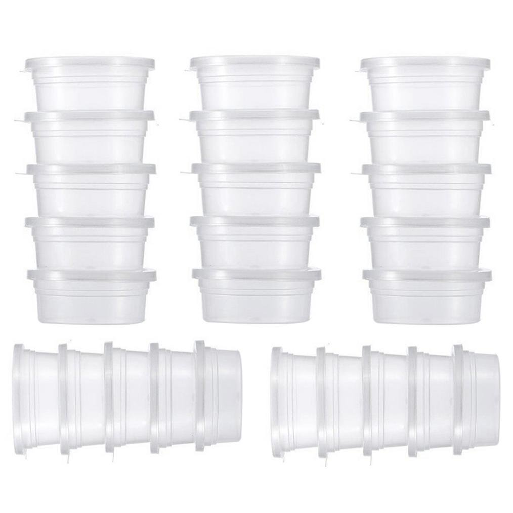 Ikevan 100, 4 X 25 Pc Slime Storage Containers Foam Ball Storage Cups Containers With Lids IkevanSAF