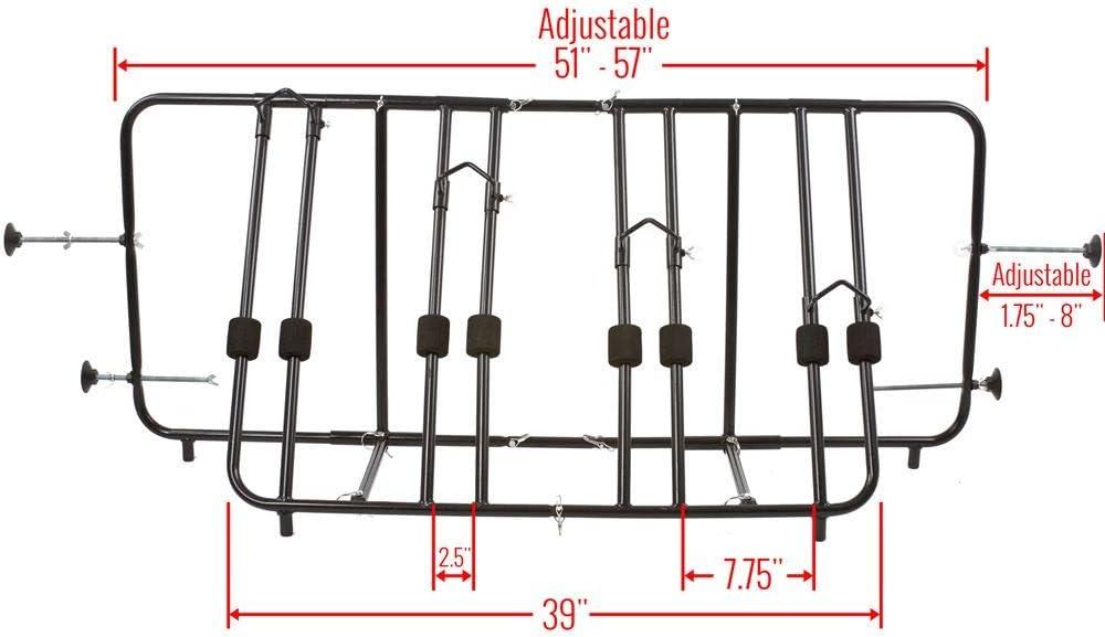 Apex TBBC-4 4-Bike Pickup Truck Bed Bicycle Rack