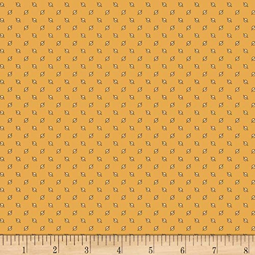 Meridian Stars Planet Yellow Fabric by the Yard