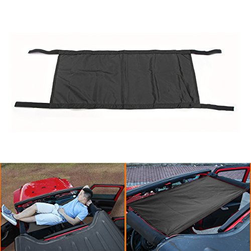 Cherocar Car Roof Rest Bed Hammock For Jeep Wrangler   Wrangler Unlimited Jk  Black