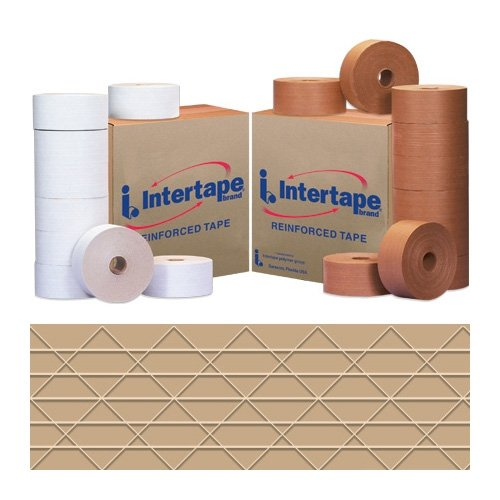 Intertape T907KR6606 Light Duty Medallion Reinforced Tape, 450' Length x 70mm Width, Kraft (Case of 10) by Intertape
