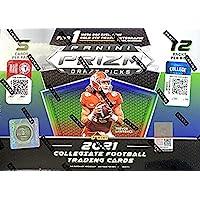 $94 » 2021 Panini Prizm Draft Picks Football MEGA Box (12 pks/bx, ONE Gold Ice Prizm…