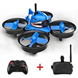Fiaya 3 in 1 Shark Hunting 013Pro 5.8G 40CH Mini FPV VR Goggles Racing Drone (Pressure High Version)