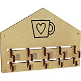 Azeeda 'Heart Mug' Wall Mounted Coat Hooks / Rack (WH00025238)