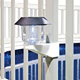 Vinyl Works Resin Swimming Pool Fence Solar Lights - 4 Pack