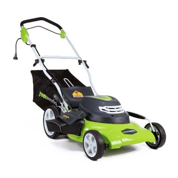 Greenworks g-max 40v 20-inch cordless 3-in-1 lawn mower with smart cut technology, (1) 4ah battery and charger included mo40l410 7 includes (1) max capacity 4 ah - 40v lithium battery , cutting heights - 5 position durable 20'' steel deck lets you mulch, bag, or side discharge allowing you to maintain your yard the way you want it. This lawn mower is not self-propelled innovative smart cut technology automatically increases the speed of the blade when more power is needed