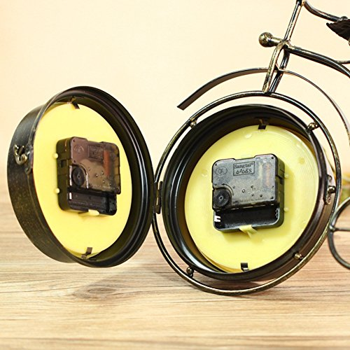 NEOTEND Handmade Vintage Bicycle Clock Bike Mute Two Sided Table Clock by NEOTEND (Image #2)