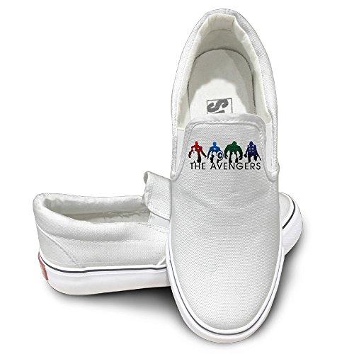 Dhome Liga Avenger Atletisk Unisex Platt Duk Sneaker Shoes Vita